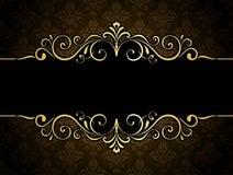 Złota sztandar rama Zdjęcia Royalty Free