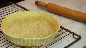 Złota tarta skorupa Zdjęcie Royalty Free