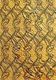 Złota textured bezszwowa tapeta Zdjęcie Stock