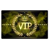Złota VIP karciany projekt Obrazy Stock