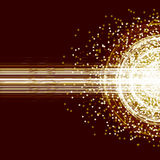 Złota wybuchu promienia karta Ilustracji