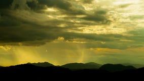 Złote chmury. Fotografia Stock
