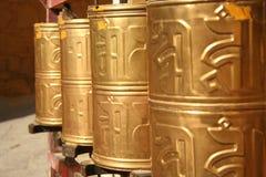 złote cylindrów Obrazy Stock