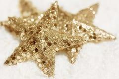 Złote gwiazdy Fotografia Royalty Free