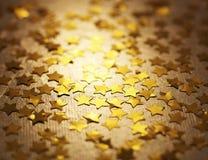 Złote gwiazdy Zdjęcie Stock