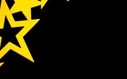 Złote gwiazdy na Czarnym tle Zdjęcie Stock
