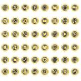 Złote ikony biznesowe i Internetowe Obrazy Stock