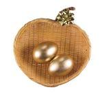 złote jajka Fotografia Royalty Free