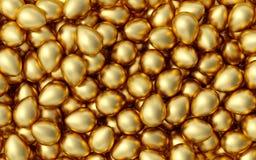 złote jajka ilustracja wektor