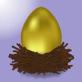 złote jajko Fotografia Royalty Free