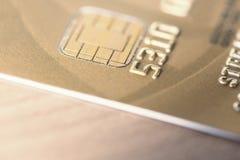 Złote Kredytowe karty Fotografia Royalty Free