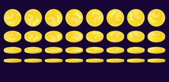 złote monety Royalty Ilustracja