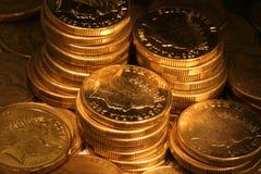 złote monety Zdjęcia Royalty Free