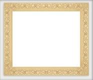 Złote obrazek ramy inkasowe Obrazy Stock