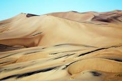 Złote piasek diuny przy Wielkim piasek diun Pres i parkiem narodowym Obrazy Stock