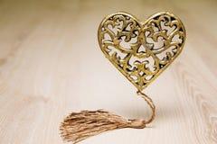 złote serce Zdjęcie Stock