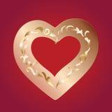 złote serce Obrazy Stock