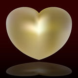 złote serce Obraz Royalty Free