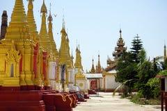 złote stupas Obraz Stock