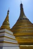 złote stupas Obraz Royalty Free