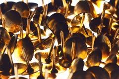 Złote szpilki Obraz Stock