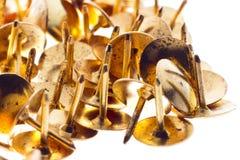 Złote szpilki Zdjęcia Royalty Free