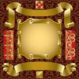złote transparenty Fotografia Royalty Free