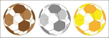 złotego medalu srebro futbolowy srebro Obrazy Royalty Free