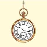 Złotego rocznika kieszeniowy zegarek Obrazy Stock