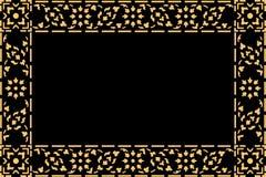 Złotego tajlandzkiego stylu wzoru tradycyjna sztuka Zdjęcie Stock