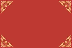 Złotego tajlandzkiego stylu wzoru tradycyjna sztuka Obraz Stock