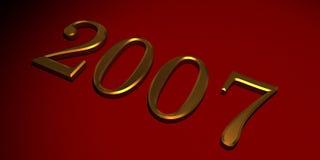 Złoto 2007 Ilustracja Wektor
