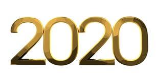 2020 złoto Zdjęcia Royalty Free