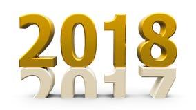 2017-2018 złoto Obrazy Stock