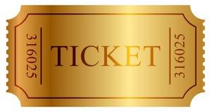 Złoto bilet Obraz Stock