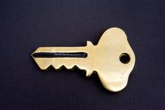 złoto czarny klucz Zdjęcie Royalty Free