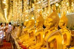 Złoto deseniowy Buddha Obraz Stock