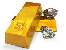 złoto, diamenty, blisko Fotografia Stock