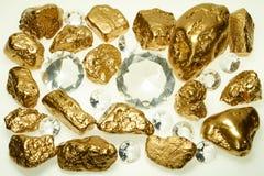 złoto, diamenty, blisko Zdjęcie Royalty Free