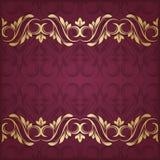 Złoto granica Zdjęcie Royalty Free