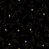 Złoto gwiazdowy confetti fryzuje wektoru wzór royalty ilustracja