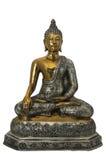 Złoto i srebra Buddha statua zdjęcia royalty free