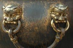 złoto klamki dekoracyjne Fotografia Royalty Free