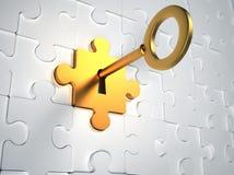 złoto klucz Zdjęcie Royalty Free