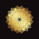Złoto koronki wzór na czarnym tle Obraz Royalty Free