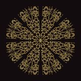 Złoto koronki wzór na czarnym tle Obraz Stock