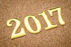 2017 złoto liczba Obrazy Stock
