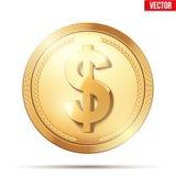 złoto menniczy dolarowy znak Fotografia Royalty Free