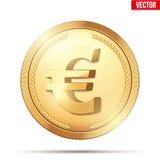 złoto menniczy euro znak Obraz Royalty Free