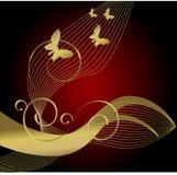 złoto motyla Zdjęcia Royalty Free